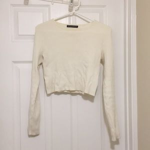 Brandy Melville White Longsleeve Top